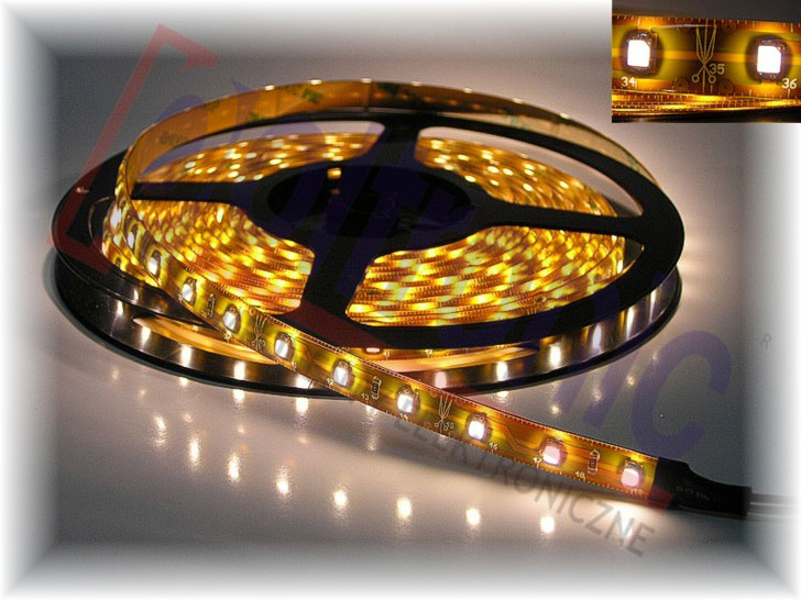 LED LS5300W 60LEDS/M LED LS5300W 60LEDS/M LED STRIP  WHITE 120C 1300-1500mCd/Led 50000h