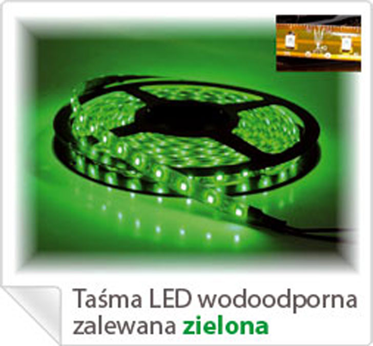 LED LS5300G 60LEDS/M LED LS5300G 60LEDS/M LED STRIP GREEN 120C 520nm  700-900mCd 50000h