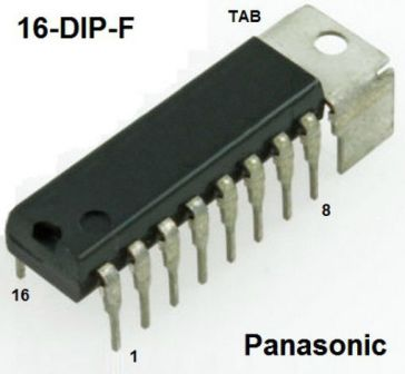 AN7142 DIL16 AN7142 DIL16 V(cc): 18V; 4A; 8.3W; dual audio power amplifier