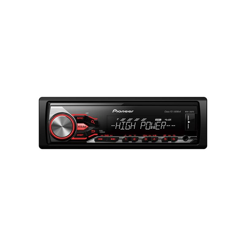 PIONEER MVH-280FD Автомобилен плейър с RDS тунер, USB и Aux-in. Поддържа iPod/iPhone Direct Control, Android