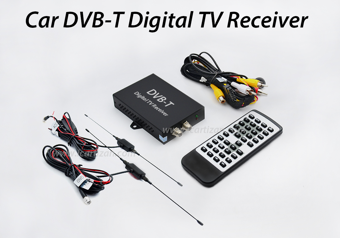 DUAL TUNER CAR DVB-T DIGITAL TV RECEIVER Автомобилен телевизионен тунер  mpeg4