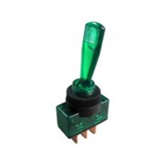 SW TS23L-12-GREEN SW TS23L-12-GREEN Toggle switch, illuminated  253221