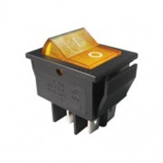SW IRS-201-1B YELLOW ON-OFF SW IRS-201-1B YELLOW ON-OFF Ключ кобиличен светещ жълт 28x22mm 4p 20A/12V