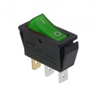 SW RS-23L-GREEN RK1-11 SW RS-23L-GREEN RK1-11 Ключ кобиличен 28x11mm 3p ON-OFF 16A/250V зелен