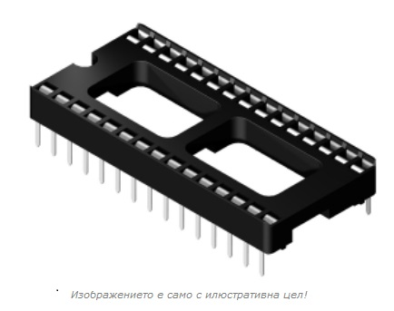 28PIN DIP SOCKET FOR IC 28PIN DIP SOCKET FOR IC Обикновен цокъл за �С 28pin