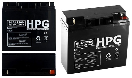 ACCU 12V/20AH HPG12200 ACCU 12V/20AH HPG12200 High power grade battery size LxWxH(181x77x167)mm