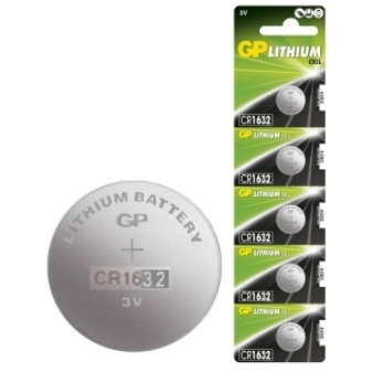 BAT CR1632 GP BAT CR1632 GP Л�Т�ЕВА БАТЕР�Я 3V d=16mm h=3.2mm