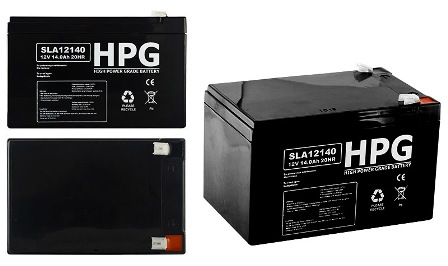ACCU 12V/14AH HPG120140 ACCU 12V/14AH HPG120140 High power grade battery size LxWxH(151x98x95)mm