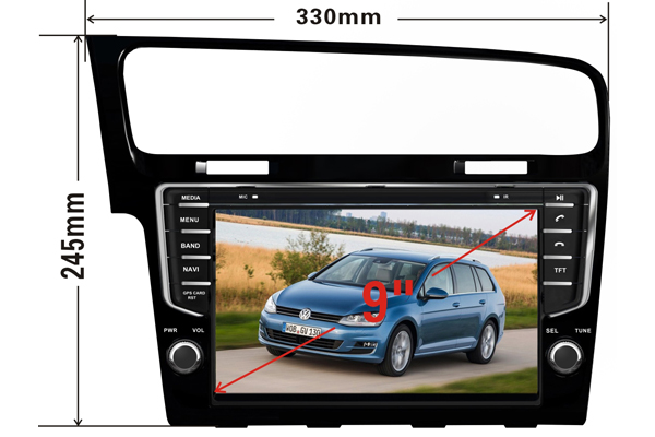 MULTIMEDIA VW GOLF 7 2013 DOUBLE DIN/ДВОЕН Д�Н  VW GOLF 7  2013-2016  ANDROID 5.1