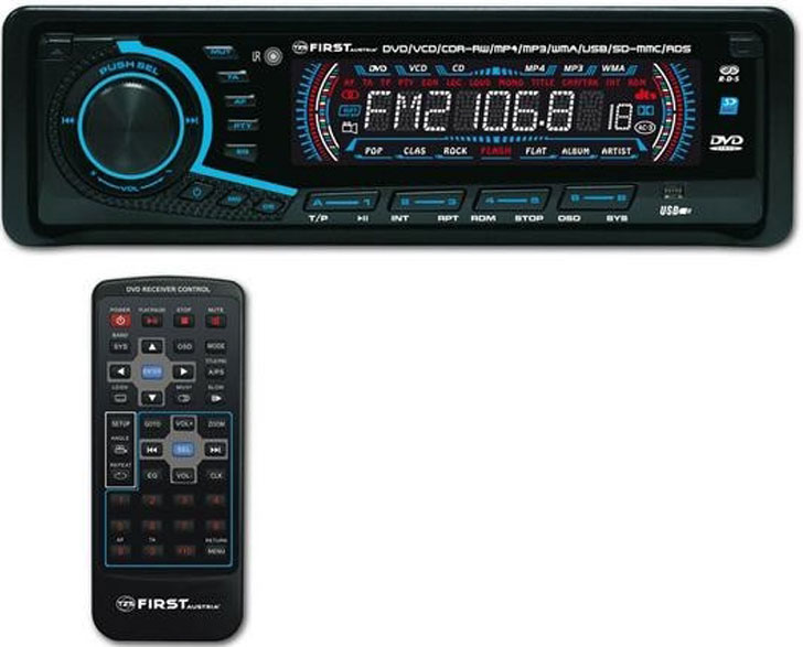 RADIO CD DVD FIRST Автомобилно радио със CD DVD USB SD CARD  4X25 Watt