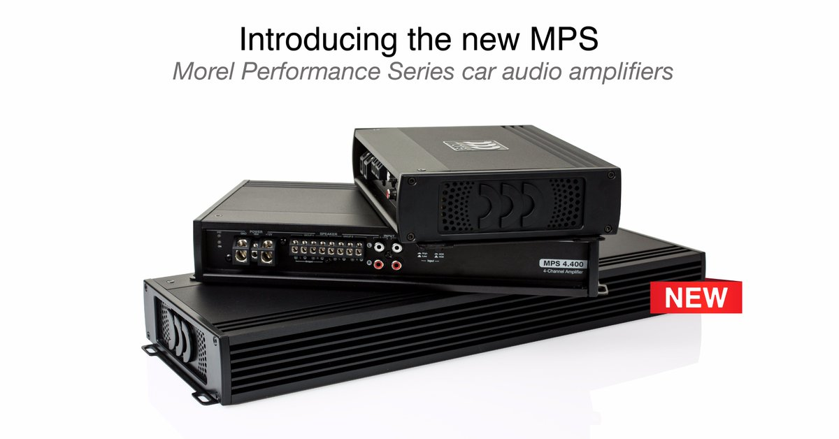 MOREL MPS 4.400 High-End 4-канален усилвател Morel MPS 4.400 ,   2 Ohm 4 x 100w ,  10Hz-30kHz