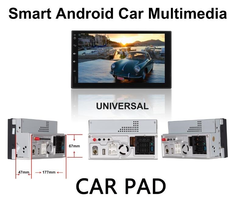 MULTIMEDIA UNIVERSAL ANDROID 7.1 CAR PAD/DOUBLE DIN ANDROID 7.1 ДВОЕН Д�Н  АНДРО�Д 7.1