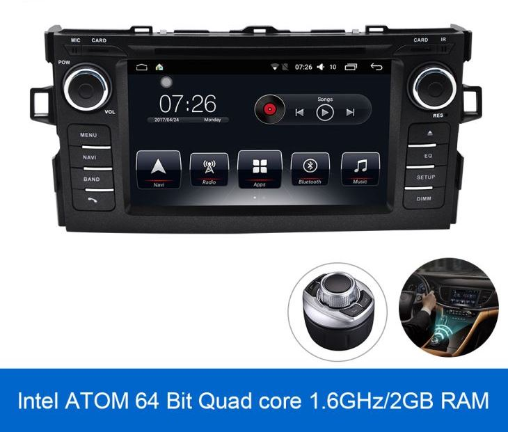 MULTIMEDIA TOYOTA AURIS Android Car Radio Toyota Auris  Двоен дин Toyota Auris  Навигазия за Тойота Аурис
