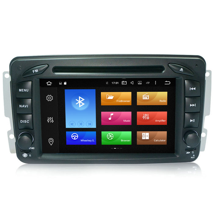 MULTIMEDIA MERCEDES C-CLASS W203 Двоен дин за MERCEDES W203  GPS DVD USB BLUETOOT android 7.1