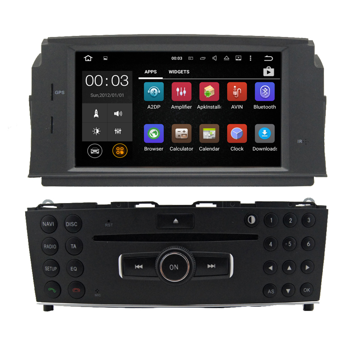 MULTIMEDIA MERCEDES W204 ANDROID 7.1 Двоен дин Mercedes C-CLASS W204 2008-2013 ANDROID 7.1