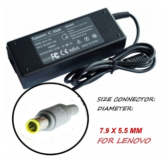 AC/DC ADAPTER 19VDC 4.74A 7.9X5.5 MM AC/DC ADAPTER 19VDC 4.74A 7.9X5.5 mm Захранване за лаптоп LENOVO от 220VAC на 19VDC 4.74A