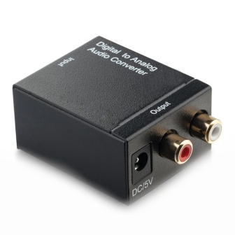 AUDIO CONVERTER DIGITAL TO ANALOG AUDIO CONVERTER Coaxial or Toslink digital audio signal to analog L/R audio(Преобразувател оптика към чинч)
