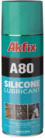 SPRAY SILICONE LUBRIKANT A80 400ML AKFIX SPRAY SILICONE LUBRIKANT A80 400ML AKFIX