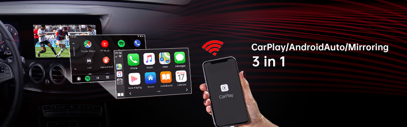 CARPLAY UNIVERSAL CP3-11 Universal Wireless CarPlay/Android Auto Integration with AHD/CVBS output and HDMI output