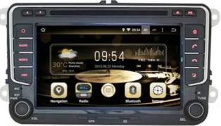 MULTIMEDIA VW TIGUAN ANDROID 7.1 ANDROID  Двоен дин  GPS bluetooth за VW TIGUAN  , SEAT  ALTEA , SKODA