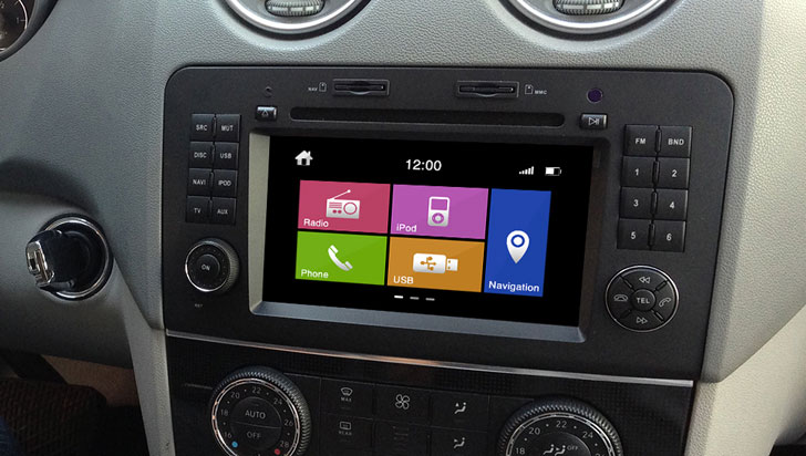 MULTIMEDIA ML-W164 DYNAVIN N6 Двоен дин за Mercedes ML164, DYNAVIN N6,  DOUBLE DIN,  MERCEDES GL-W164